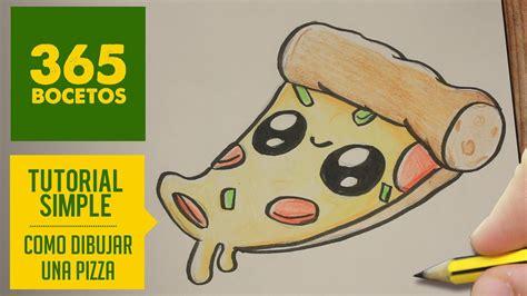 como dibujar una pizza kawaii paso a paso dibujos kawaii faciles how to draw a pizza