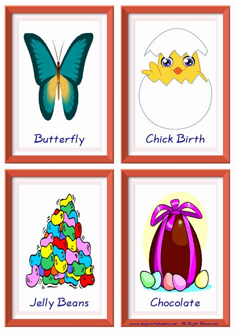 Happy Easter Esl Little Flashcards Vocabulary For Kids And New Learner