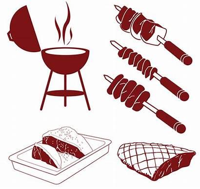 Churrasco Behance Churrasqueira Carne Brazilian Icons Manual
