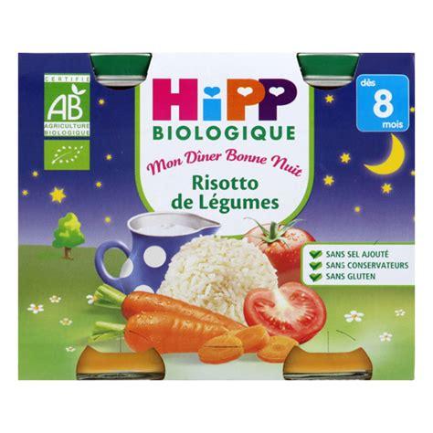 petit pot bebe hipp 2 petits pots risotto de l 233 gumes bio 8 mois hipp acheter sur greenweez