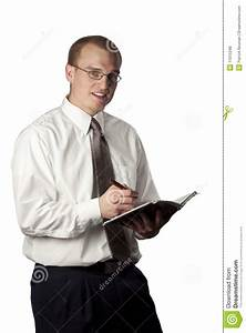 Man Writing In An Appointment Book Royalty Free Stock ...