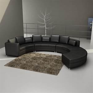 Canapé Cuir Design : canap cuir rond malaga ~ Voncanada.com Idées de Décoration