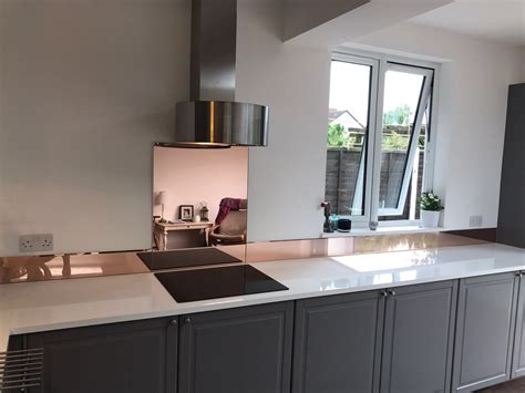 Rose Gold Kitchen Splashbacks By Surrey Splashbacks