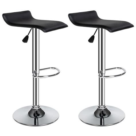 chaise de bar design tabouret de bar lot de 2 tabouret de bar design chaise de bar noir tectake pivotant et