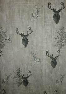 Karierte Stoffe Landhausstil : deko stoff vorhang landhaus grau beige marmoriert hirsch ~ Whattoseeinmadrid.com Haus und Dekorationen