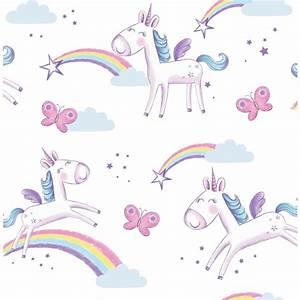 Fine Decor Unicorn Wallpaper at Homebase co uk