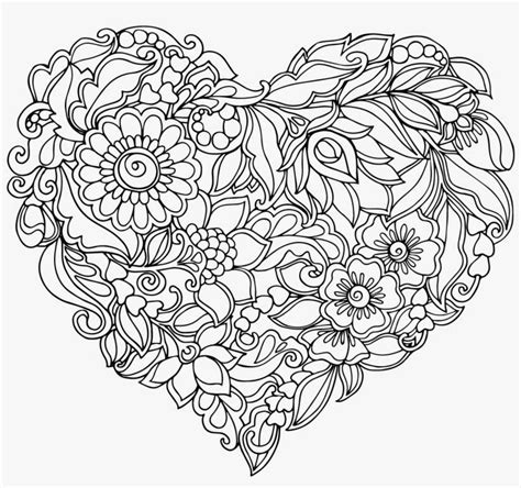 royalty  library heart shaped pattern transprent mandala colouring pages heart