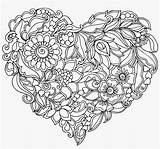 Mandala Heart Royalty Pattern Shaped Seekpng Library Colouring Transprent sketch template