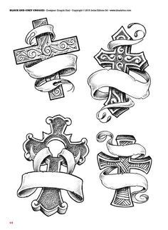 Tattoo flash book №2 - сross | 66 photos | VK | Tattoo flash | Body art tattoos, Tattoos, Tattoo