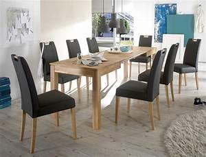 Esstisch 6 Stühle : tischgruppe eiche esstisch ramon 140 260 x80cm 6 st hle samia fango wohnbereiche esszimmer ~ Eleganceandgraceweddings.com Haus und Dekorationen