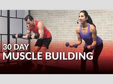 30 Day Muscle Building Program at Home 💪 HASfit Free