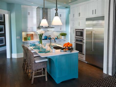 turquoise kitchen island kitchen sherwin williams watery hgtv