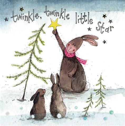 twinkle twinkle rabbit christmas alex clark art