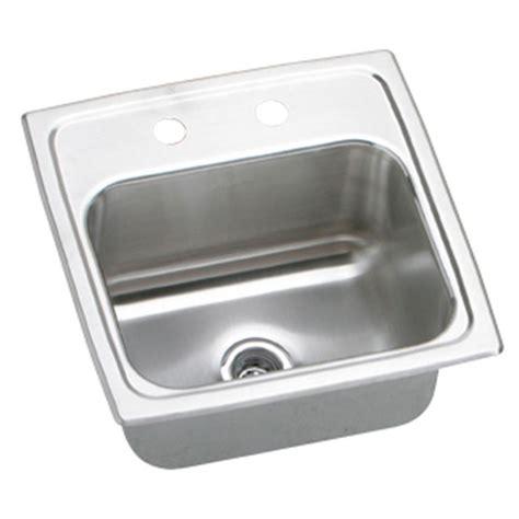 Elkay Bar Sink Home Depot by Elkay Lustertone Drop In Stainless Steel 15 In 3 Bar