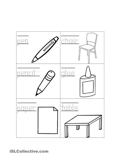 classroom objects school objects