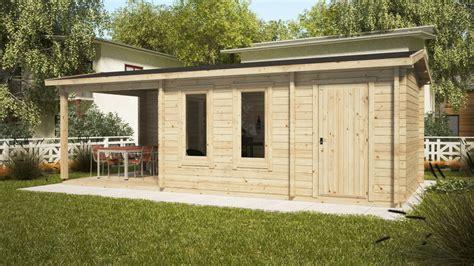 gartenhaus mit schuppen gartenhaus nora e mit terrasse und schuppen 15 m2 8 x 3 m 44 mm hansagarten24