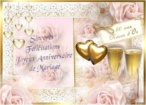 anniversaire de mariage 50 ans félicitation f 233 licitations 10 ans de mariage dans carte 50 ans de