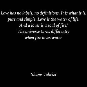 Love has no lab... Simple Water Quotes
