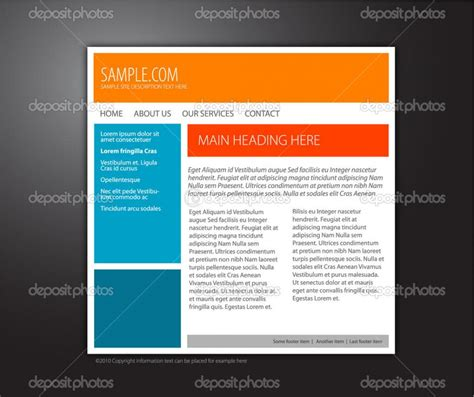 Basic Html Template Basic Html Page Template Shatterlion Info