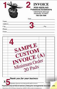 custom invoice pads hammer anvil design wwwhoofprintscom With invoice pads personalized