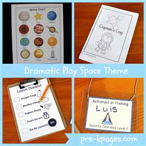 Space Station Dramatic Play Theme