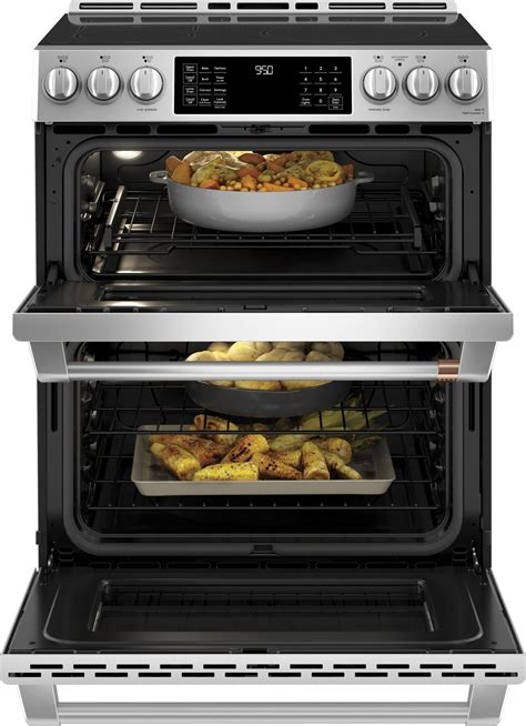 chspms cafe    double oven induction range stainless steel