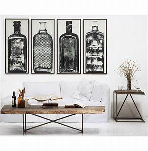 Copper river industrial loft bottle black white photo wall for Photo wall art