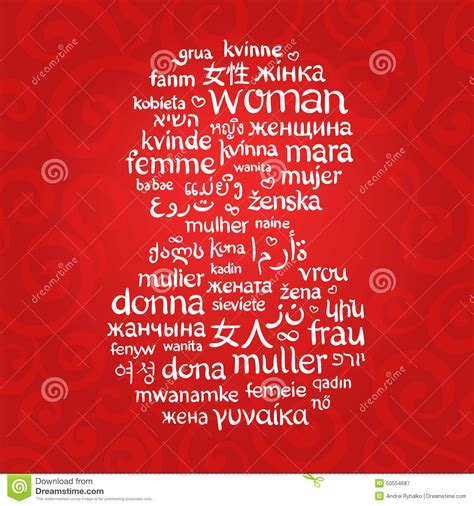 word woman written    languages