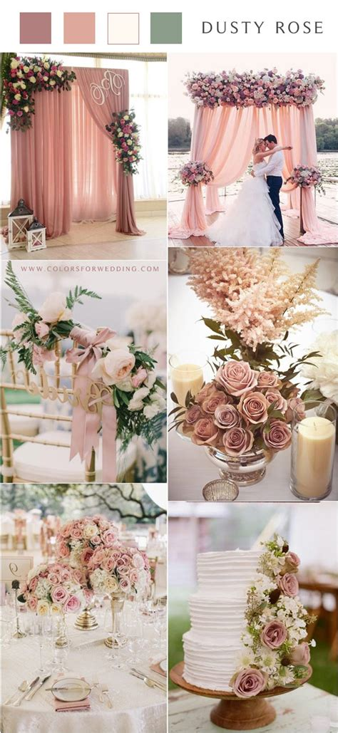 30+ Dusty Rose Wedding Color Ideas Colors for Wedding
