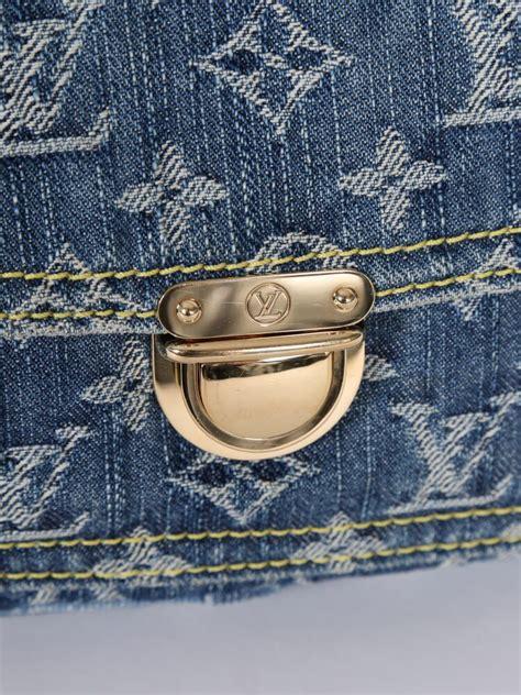 louis vuitton bum bag monogram denim blue luxury bags