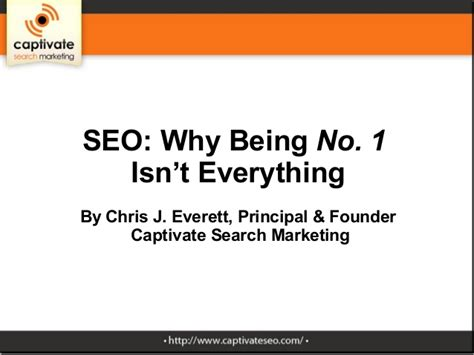 Why Being No. 1 Isn't Everything