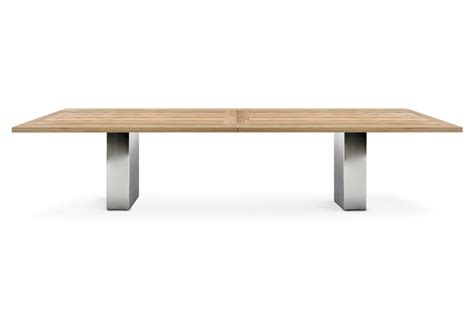 doble table en teck by fueradentro design hendrik steenbakkers