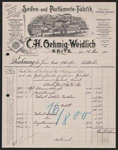 Rechnung Verkaufen : rechnung zeitz 1900 oehmig weidlich seifen und parf ebay ~ Themetempest.com Abrechnung