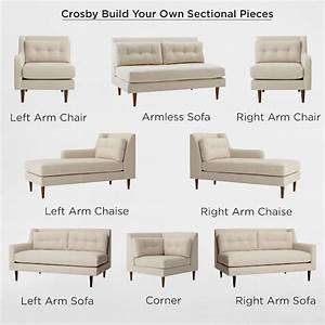 Build your own crosby mid century sectional pieces for Build a sectional couch