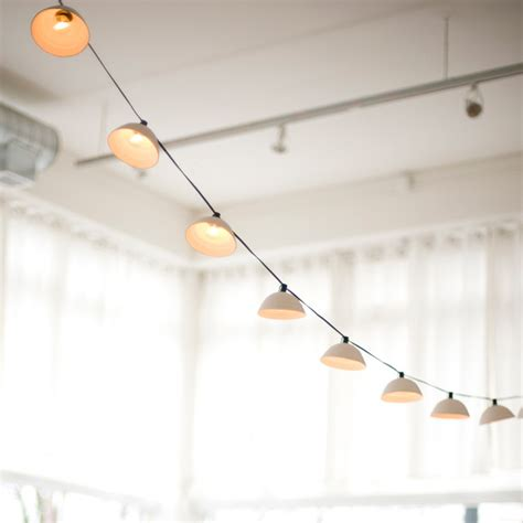 pleated string lights modern outdoor rope and string