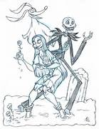 Jack And Sally Coloring Page Images   Pictures - Becuo  Jack And Sally Coloring Pages