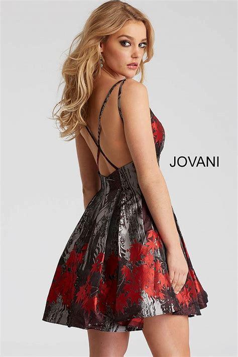 Black and Red V Neck Spaghetti Straps Short Dress 51178 ...