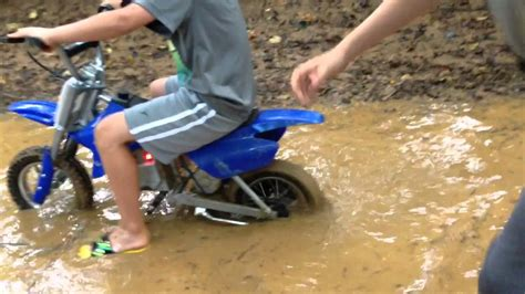 electric dirt bikes water ride  pit youtube