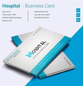 Simple hospital business card template free premium for 12 up business card template