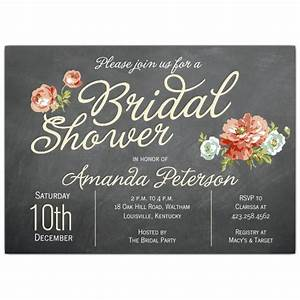 finchley cream bridal shower invitations paperstyle With wedding shower invite wording