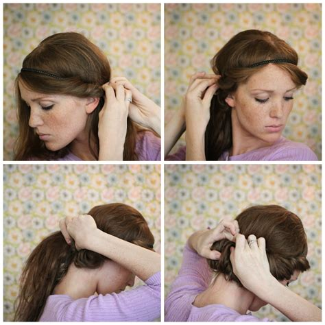 coiffure avec headband cheveux mi long