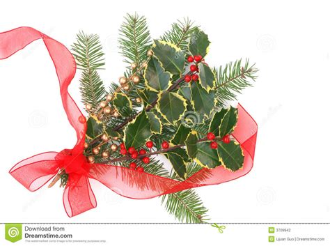 christmas decorations  holly berries stock photo