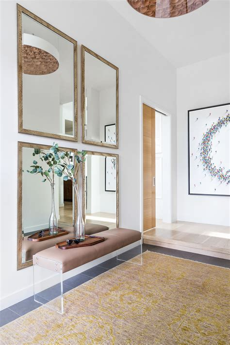 Sophisticated Second Home by Sophisticated Bright Modern Front Entrance Entryway