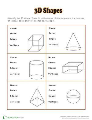 shape identification shapes worksheets  grade