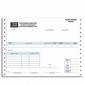 Pest control work order invoice continuous forms for Pest control invoice pdf