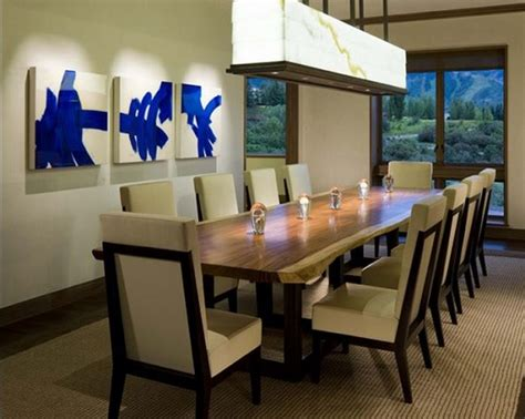 Fulfill The Space By Long Dining Room Tables  Home Interiors