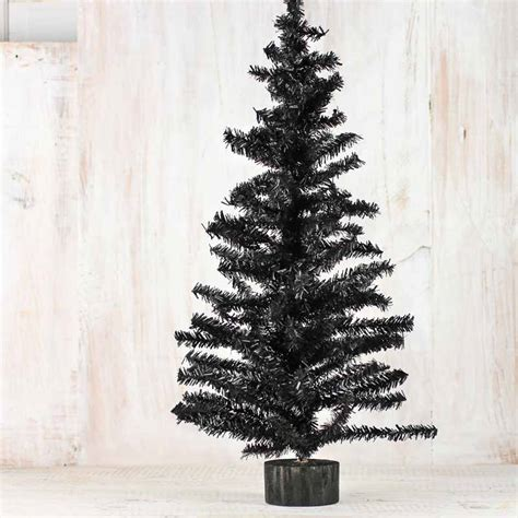 black artificial canadian pine tree christmas trees and