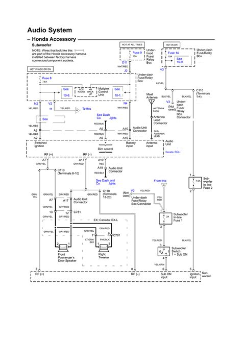 2004 Honda Element Wiring Diagram by Repair Guides Wiring Diagrams Wiring Diagrams 1 Of