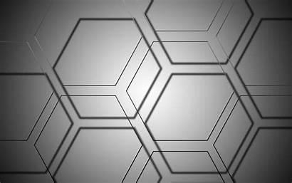 Grey Abstract Hexagon Graphic Desktop Background Wallpapers