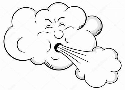 Nube Dibujos Sopla Viento Colorear Wind Coloring